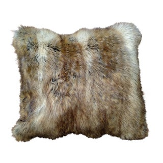Faux Fur Upholstered Pillow