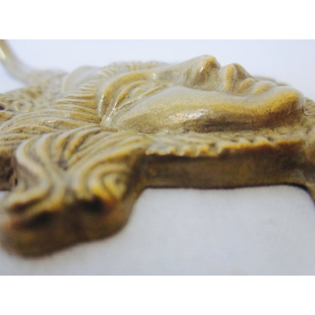 Image of Modernist Brass Wall Hook