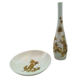 Bjorn Wiinblad Vase & Bowl Set