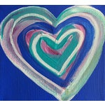 Image of 'Cobalt Heart' Original Painting by Linnea Heide