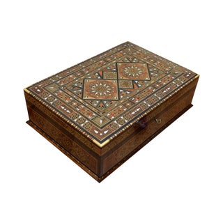 Wood Inlay Multipurpose Jewelry Box