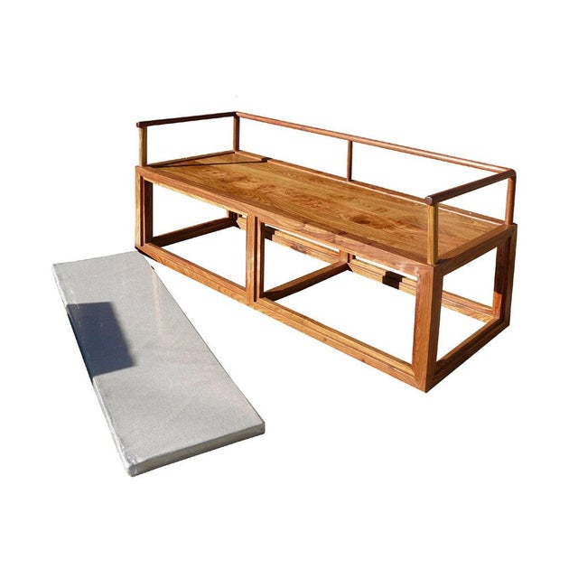 Image of Rosewood Chinese Zen Design Daybed Bench Chair