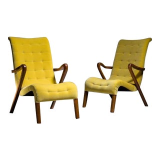 Axel Larsson Pair of Lounge Chairs, Denmark, 1940s