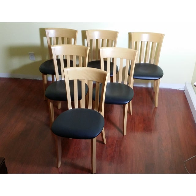 Potocco Modern Italian Dining Chairs - Set of 6 - Image 3 of 7