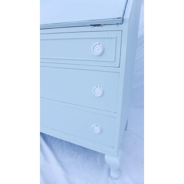 Antique Cottage Style Painted Writing Desk - Image 3 of 5