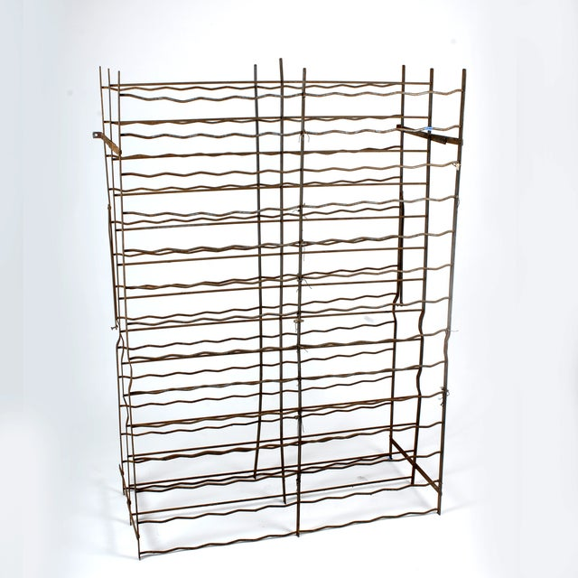 French Industrial Cage-Style Wine Rack - Image 2 of 3