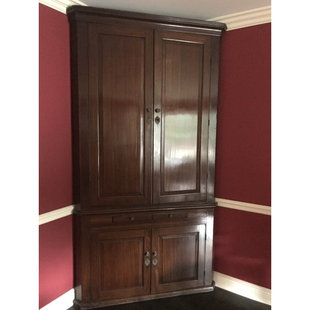 Antique Wood Corner Cabinet - *Great Price Must Sell - Image 2 of 10