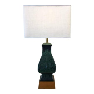 Bronze Table Lamps in the Manner of James Mont - A Pair