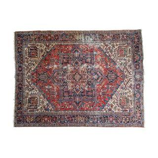 "Vintage Distressed Heriz Carpet - 8'11"" X 11'10"""