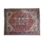 "Image of Vintage Distressed Heriz Carpet - 8'11"" X 11'10"""