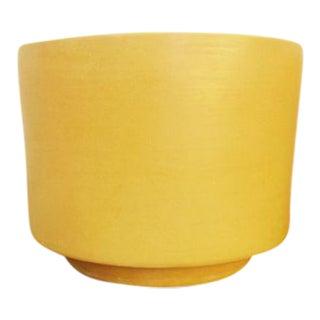 Gainey Mid-Century Modern Mustard Yellow Ceramic Planter