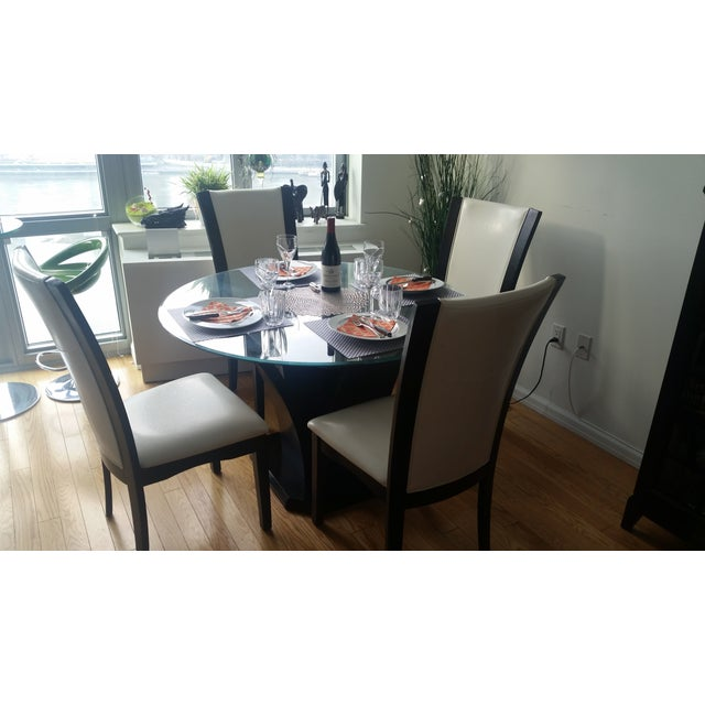 Espresso Glass Dining Table - Image 4 of 4