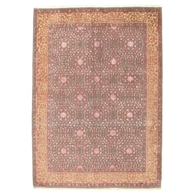 """Pasargad Hand-Knotted Tabriz Rug - 5'8"""" X 8' - Image 1 of 4"""
