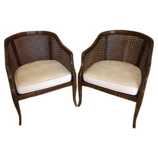 Vintage Cane Back Chairs - Pair