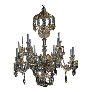 Fine Anglo-Irish Cut Lead Crystal Waterford Chandelier