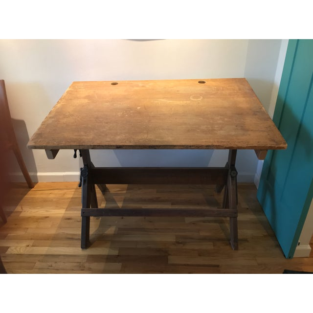 "Image of Vintage ""Hamilton"" Drafting Table"