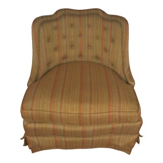 Hollywood Regency Henredon Silk Slipper Chair