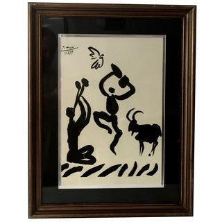 """1959 Picasso Lithograph """"Goat Dance"""""""