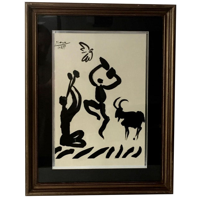 "1959 Picasso Lithograph ""Goat Dance"" - Image 1 of 5"