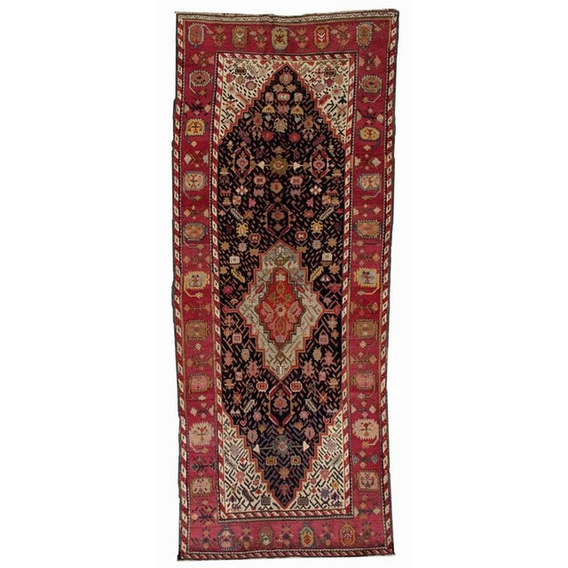 1880s Antique Hand Made Caucasian Karabagh Rug- 4′6″ × 11′7″ - Image 1 of 10