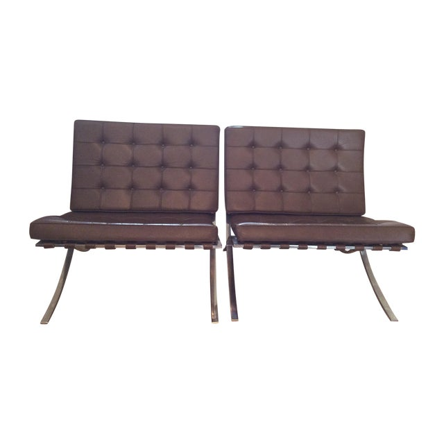 Barcelona Style Chair - Pair - Image 1 of 5