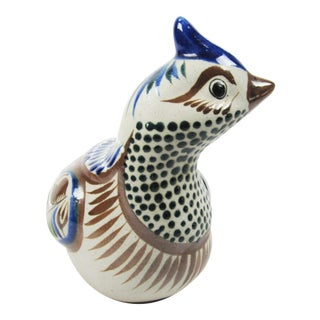 Hand Painted Mexican Tonala Ceramic Pheasant