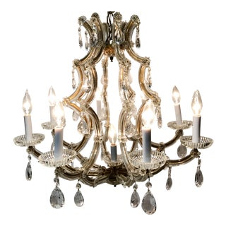 Vintage Maria Theresa Crystal Chandelier