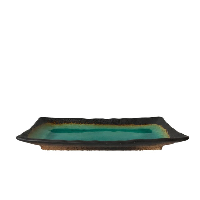 Turquoise Crackled Catchall Tray - Image 1 of 5