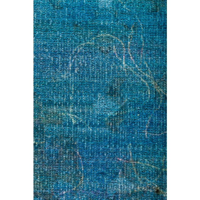 "Image of New Overdyed Hand-Knotted Blue Rug - 8'2"" X 9'10"""