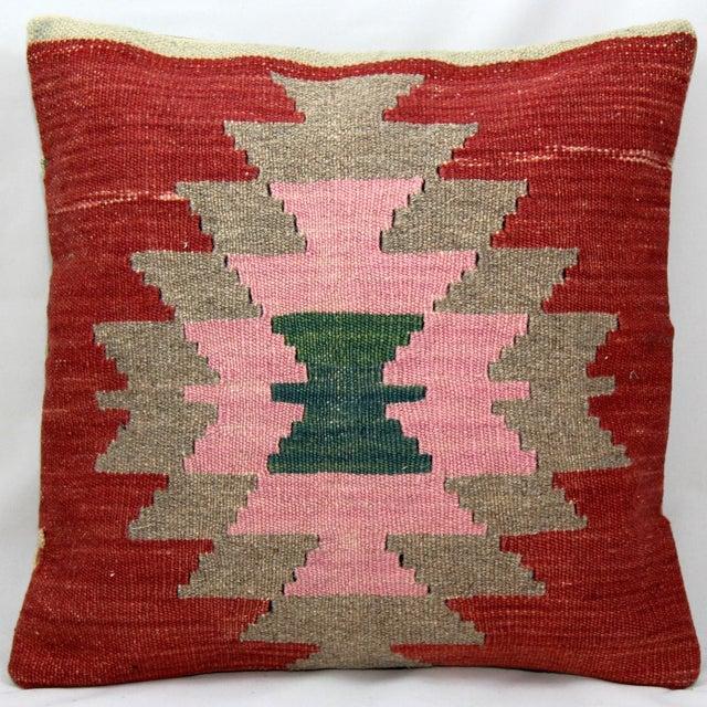 Turkish Handmade Kilim Pillow Cover - Image 2 of 4