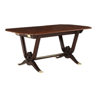 1930s Vintage French Art Deco Rosewood & Mahogany Dining Table