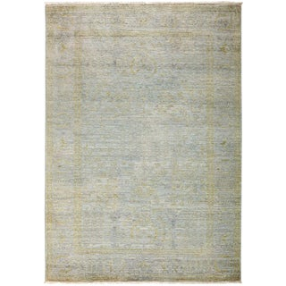 """Vibrance, Hand Knotted Gray Wool Area Rug - 4' 3"""" X 5' 10"""""""