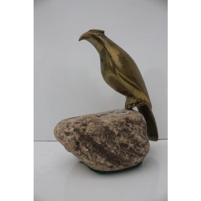 Mid Century Brass Bird Sculpture, Essie Lee - Image 3 of 8