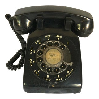 Vintage Black Western Electric Telephone