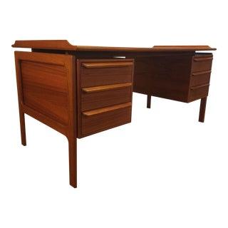 Danish Modern Teak Floating Top Desk