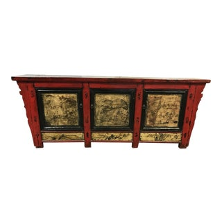 Red & Gold Asian Style Sideboard