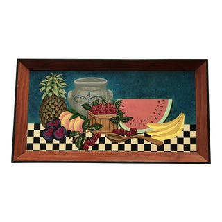 Painted Fruit Wooden Tray