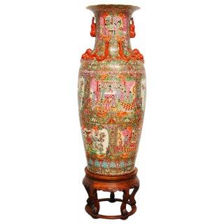 Chinese Canton Famille Rose Porcelain Vase