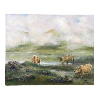 Scottish Highland Cattle Painting