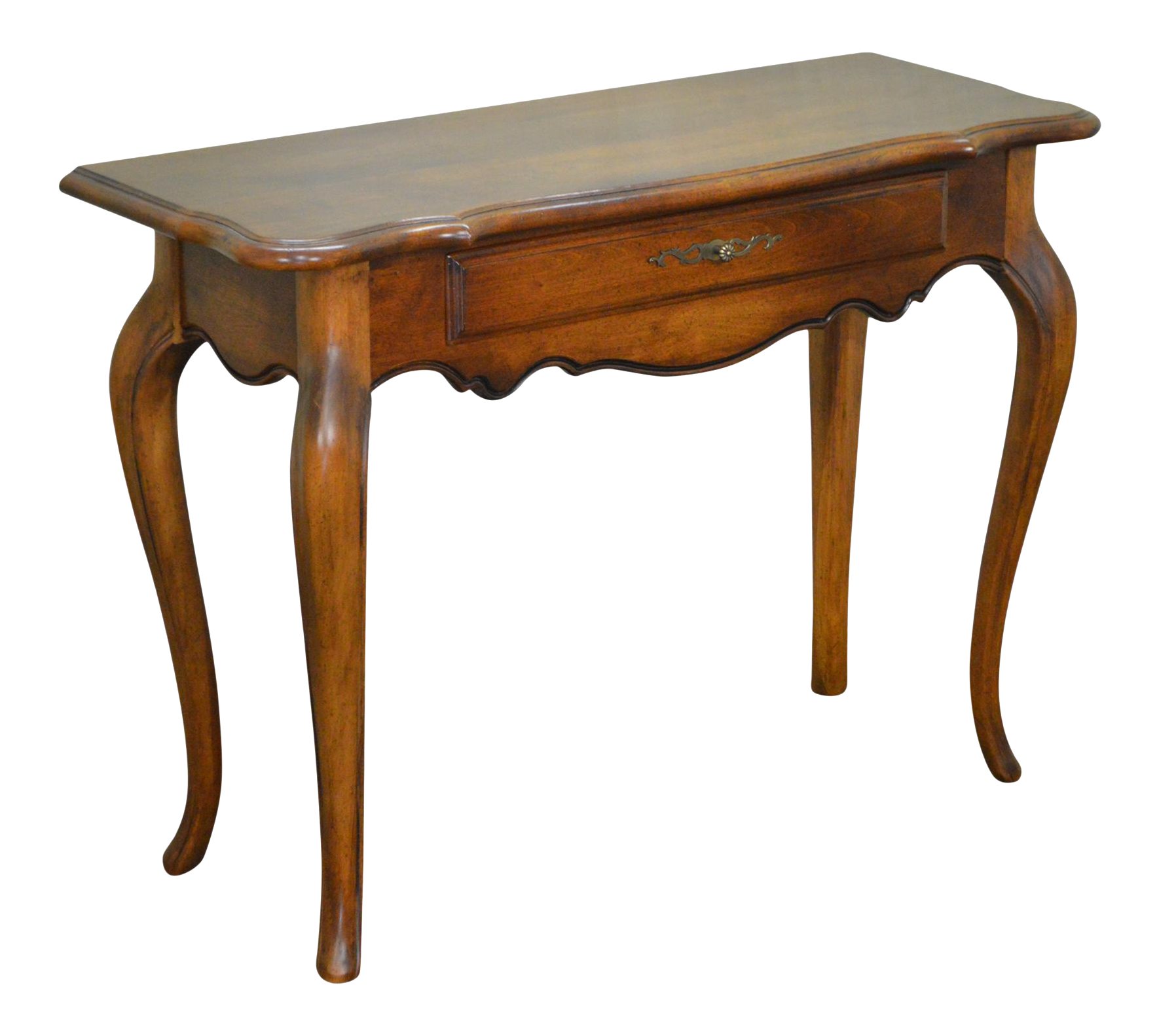 Ethan Allen French Country Style 1 Drawer Small Console Hall Table