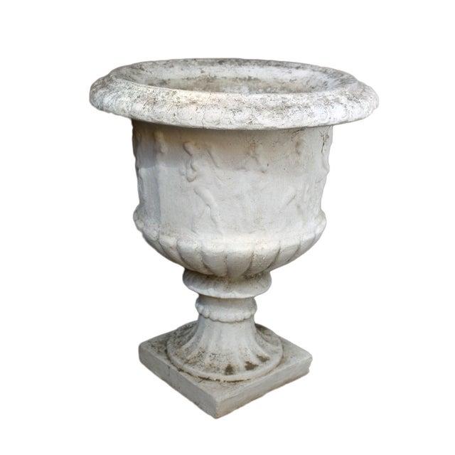 Antique Cement Urn - Image 2 of 4