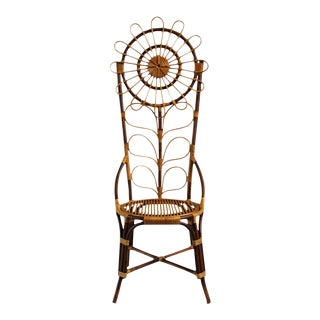 Tall Bamboo Sun Flower Chair