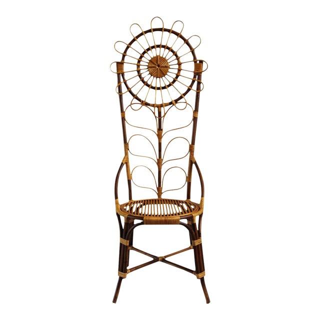 Tall Bamboo Sun Flower Chair - Image 1 of 8