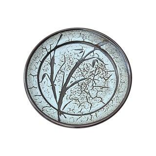 Mid-Century Sgraffito Ceramic Plate