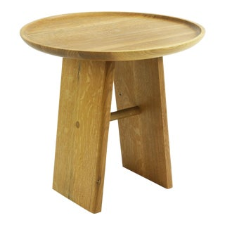 Contemporary White Oak Side Table