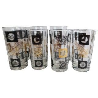 Mid-Century Modern Highball Glasses - Set of 8