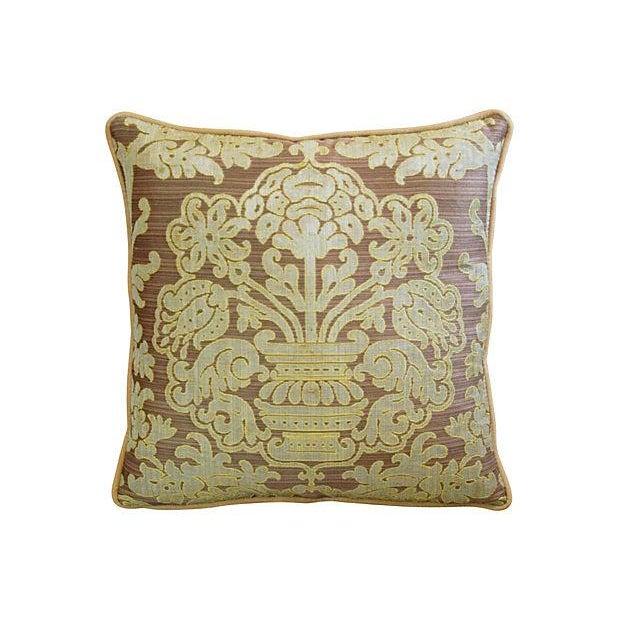 Custom French Pierre Frey Fadini Borghi Pillow - Image 3 of 5