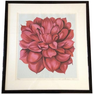 "Lowell Blair Nesbitt ""Stamp Series 2"" Floral Serigraph"