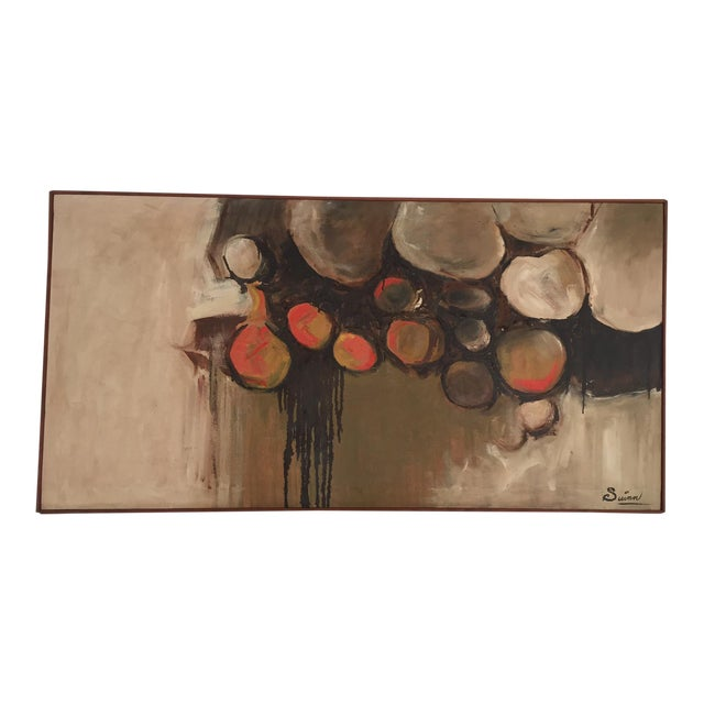 Large Mid-Century Abstract Painting - Image 1 of 5