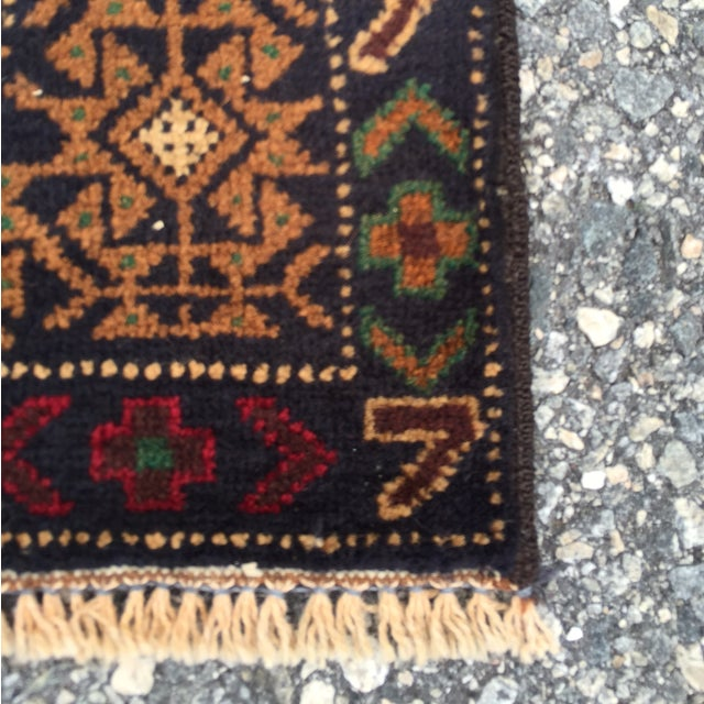 "Vintage Handmade Persian Baluchi Rug - 2'10""x4'7"" - Image 9 of 10"